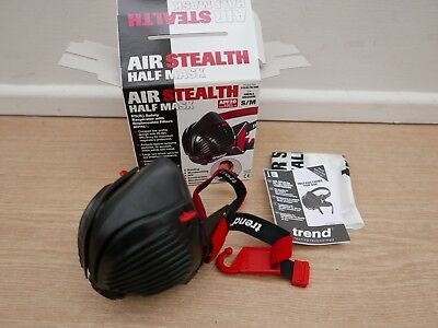 Trend Air Stealth Safety Respirator  P3 Filter Dust Half Mask Stealth/sm