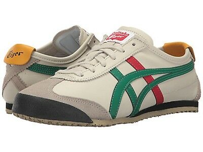 ONITSUKA TIGER DL408.1684 MEXICO 66 Mn's (M) Birch/Green Leather Lifestyle Shoes