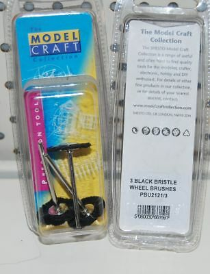 MODELCRAFT 3 GOAT HAIR MIX WHEEL BRUSHES (Ref: PBU25213) DREMEL ETC