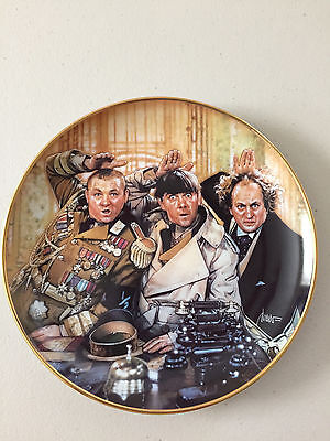 """Collectors Plate Three Stooges by The Franklin Mint 1993 """"The Three Stooges"""""""