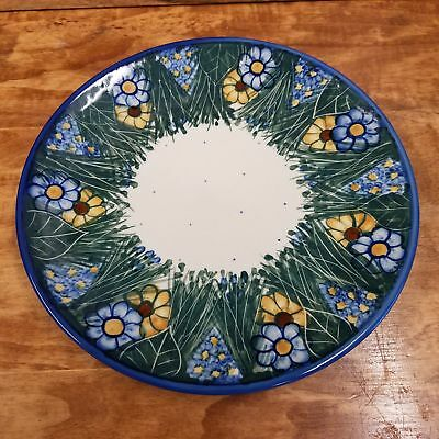 Polish Pottery Plate ~ Dinner  - Wildflower