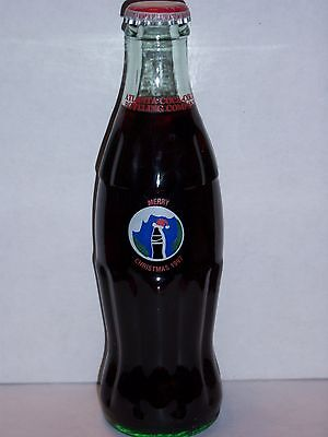 8 Oz Coca Cola Commemorative Bottle - 1997 Happy Holidays Ccbc Atlanta Ga