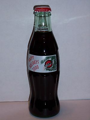 8 Oz Coca Cola Commemorative Bottle - 2000 Happy Holidays Atlanta Ccbc