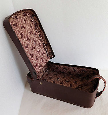 Vintage luggage box for boots or shoes? travel case hinged lid 1920s 1930s 12x6""
