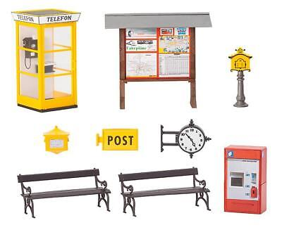 Pola G Scale 1/22.5 Train Station Accessories Kit | Ships From Usa | 331745