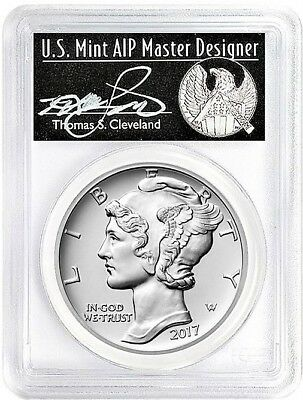 2017 $25 Palladium Eagle 1oz PCGS MS70 First Strike THOMAS CLEVELAND POP 36
