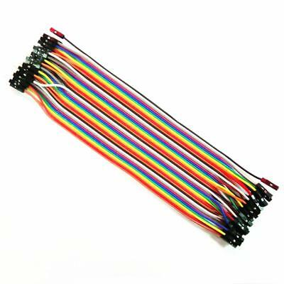 Dupont Wire Color Jumper Cable 2.54mm 1P-1P Male To Female 20cm-40 Pieces