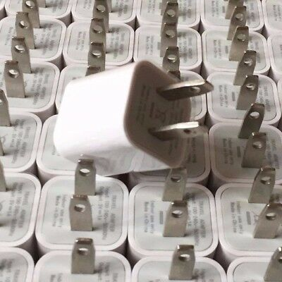 APPLE iPHONE USB WALL CHARGER - WOLESALE LOT _ 100X PIECES_ USA SELLER!