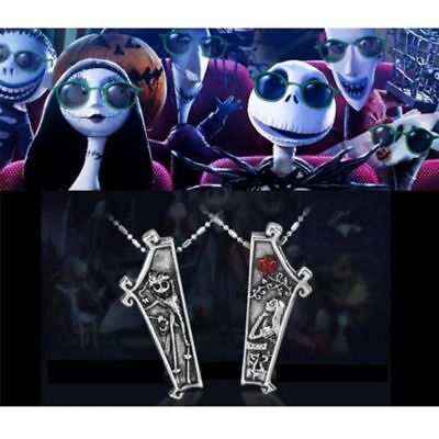 The Nightmare Before Christmas Jack Skellington Sally 2 Pc Necklace Set