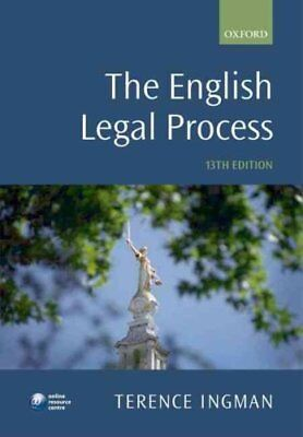 The English Legal Process by Terence Ingman 9780199581948 (Paperback, 2010)