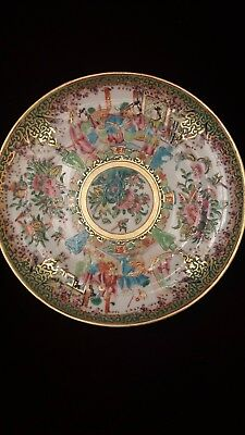 """FINE 19th Century Chinese  CANTON for export  porcelain PLATE 8"""""""