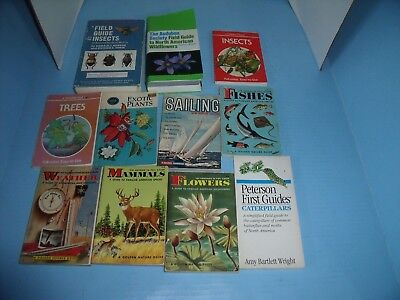 Lot Of 11 Golden Field Guides Petersons Audubon*flowers*weather*insects