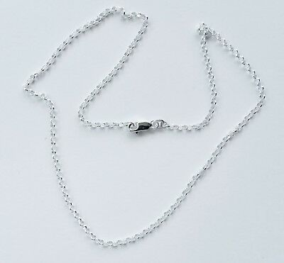 925 Italian made Solid 925 Sterling Silver 2mm belcher chain 40,45 or 50cm