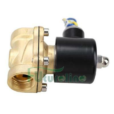 3/4 Inch DC 12V 2W-200-20 Brass Electric Solenoid Valve Water Air Fuels