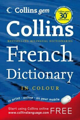 Collins Gem French Dictionary (Collins Gem) by Kolektif Paperback Book The Cheap