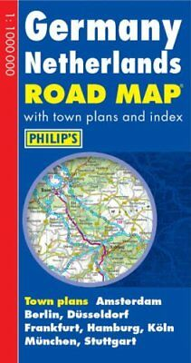 Germany and Netherlands Road Map by Philip's Sheet map, folded Book The Cheap