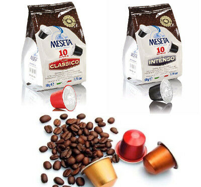 120 x MESETA  Nespresso Compatible Coffee Pods - 130 CAPS total ITALIAN ROAST