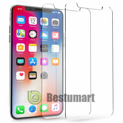 2xGenuine 9H Tempered Glass Screen Protectors Film Guard Protection for iPhone X