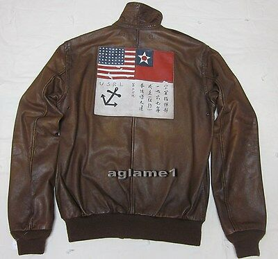 gutes Angebot gutes Angebot Outlet-Boutique LAST1 $1295 RARE Polo Ralph Lauren A2 Brown Leather ...