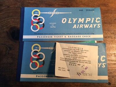 (2) Olympic Airways Tickets 1963