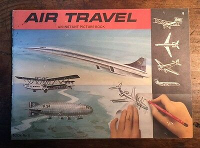 VINTAGE TWA AIR TRAVEL PICTURE BOOK 1960s