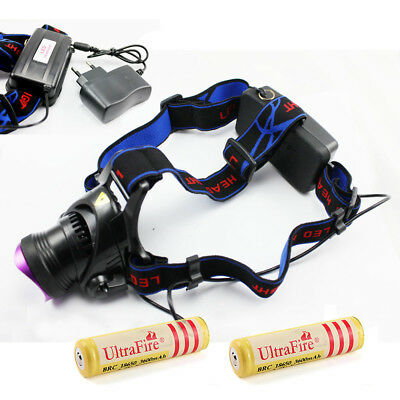2000LM XM-L T6 Focus Zoomable LED Headlamp Headlight Head Torch 18650 Lamp RLTS