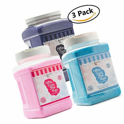 The Candery Cotton Candy Floss Sugar 3-Pack | Raspberry Blue  Strawberry and ...