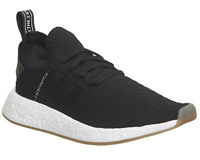 Mens Adidas Nmd R2 Pk Trainers BLACK WHITE Trainers Shoes