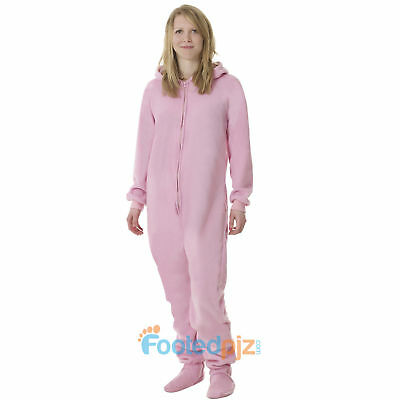 Pink Fleece Adult All In One Footed Pyjamas Ladies/Mens/Unisex Jumpsuit bodysuit