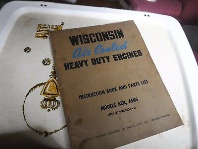 Wisconsin AEN & AENS Air Cooled Heavy Duty Engine Instruction Book&Parts List