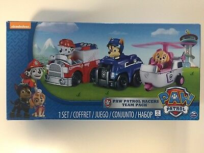 NEW Nickelodeon Paw Patrol Rescue Racers Vehicle Set 3pk: Marshall, Skye & Chase