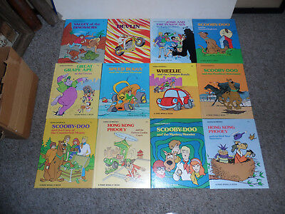 Lot Of 12 Hanna Barbera Rand Mcnally Kid Books Circa 1975 In Excellent Condition