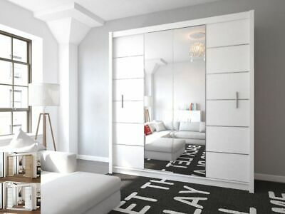 Modern Bedroom Sliding Door Wardrobe Mirror LIZBONA - Multiple colours and sizes