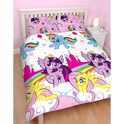 My Little Pony 'Equestria' Reversible Rotary Double Bed Duvet Quilt Cover Set