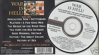 WAR IS HELL! Battle Music from the Movies (CD 1994) Bill Broughton Orchestra