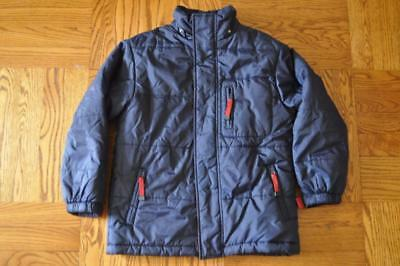 Cherokee Navy Nylon Winter Coat Jacket Sz Boys M 8 9 10 LN