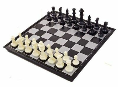 Magnetic Folding Chess Board Set Perfect For Travelling Camping  UK Seller