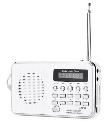 Radio Portatile L-938 Digitale Fm Lettore Mp3 Sd mmc Tf Ingrsso Aux Linq