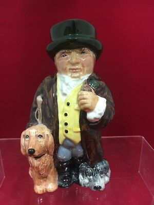 "Roy Kirkham Pottery 7"" Toby Jug England ""squire"" With Original Tag"