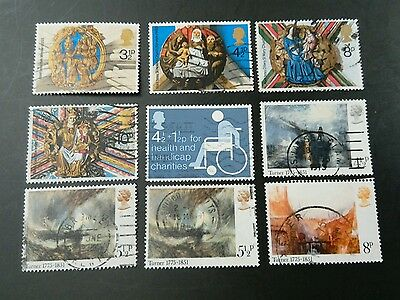 9 1974/1975 stamps SG 966 - 973