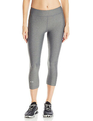 Under Armour Women's Heatgear Capri's, Graphite (1297905-090)