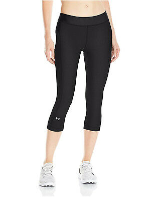 Under Armour Women's Heatgear Capri's, Black (1297905-001)