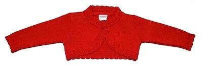 Baby Girls Romany Spanish Style Bolero Knitted Cardigan Red Blossom by Pex AW17