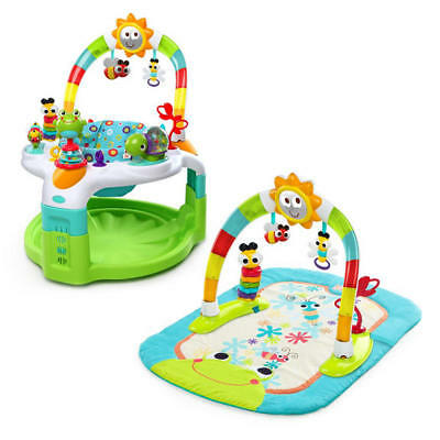2-in-1 Laugh & Lights Activity Gym & Saucer
