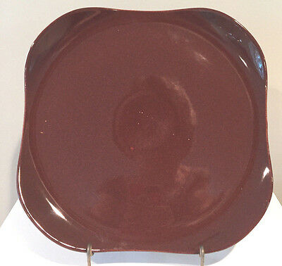 Vintage Russel Wright Steubenville American Modern Bean Brown Chop Plate
