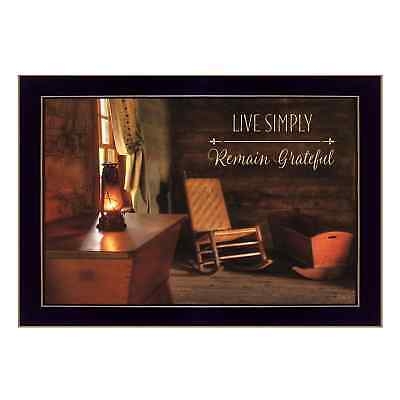 """""""Live Simply"""" By Lori Deiter, Printed Wall Art, Ready To Hang Framed Poster,"""