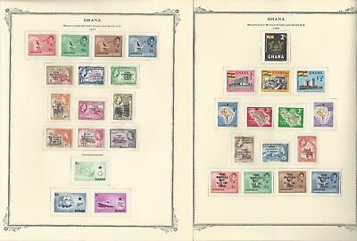 Ghana Collection 1957-1977 on 25 Scott Specialty Pages