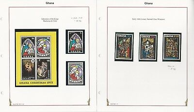 Ghana Collection, Christmas Mint NH Sets & Sheets, 4 Pages