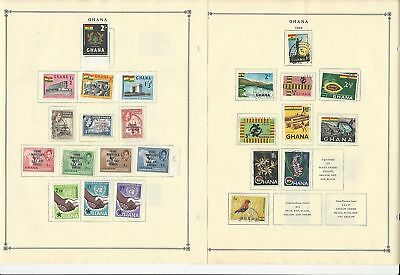 Ghana & Gibraltar Collection 1942-1963 on 17 Scott International Pages
