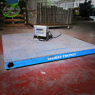 "Weigh-Tronix 5,000 Lbs. Floor Scale (48"" x 48"")"